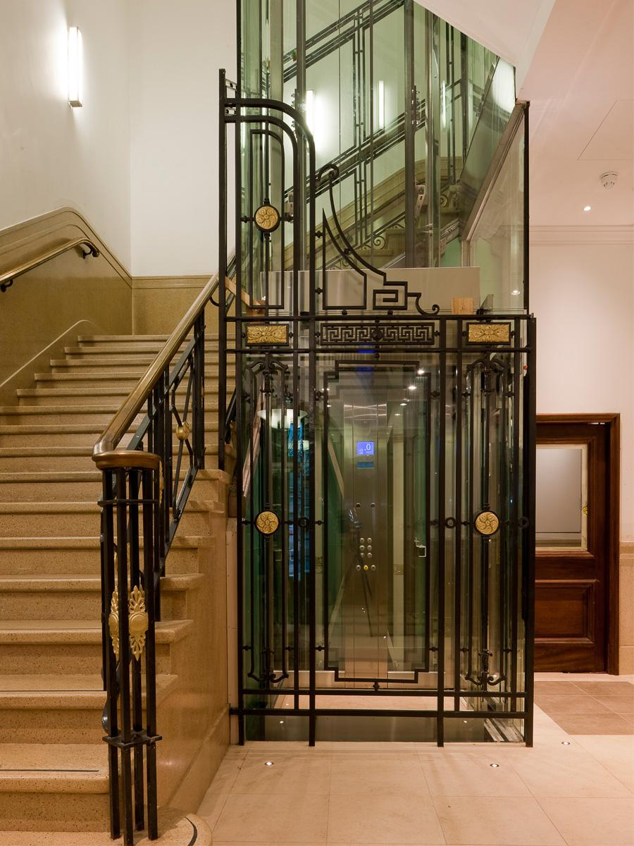 Entrance lobby with new glass lift